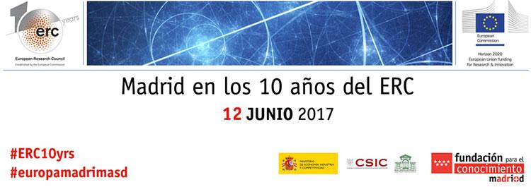 Asistimos a la Jornada en Madrid «10 años de ERC» organizada por la Fundación para el Conocimiento madri+d