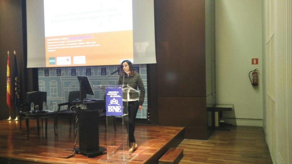 POSTDATA en la Jornada de la Biblioteca Nacional de España: «La edición digital de textos: estado actual y perspectivas»
