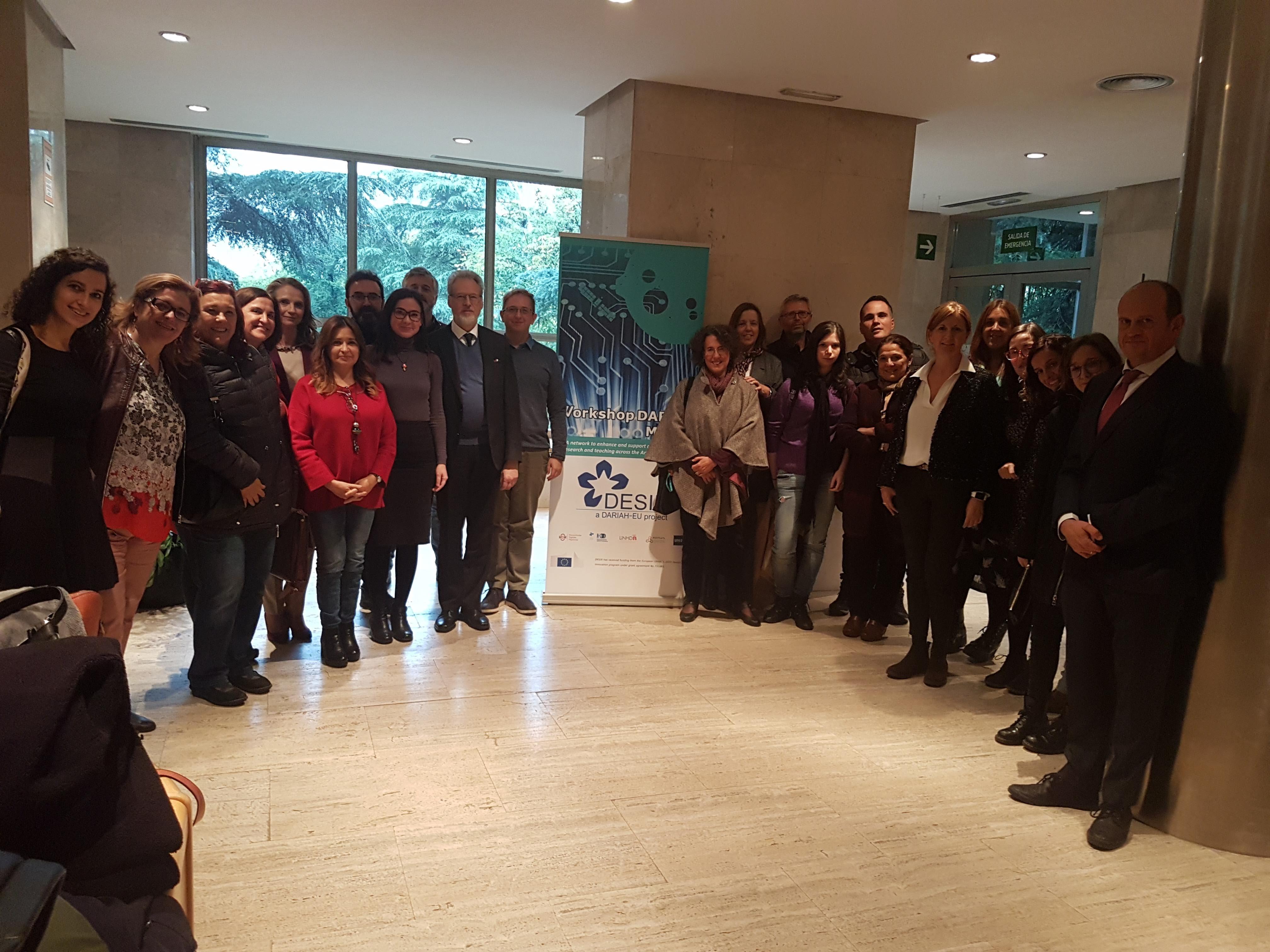 Celebrado el Workshop conjunto de la Infraestructura de investigación DARIAH y el proyecto DESIR en la UNED