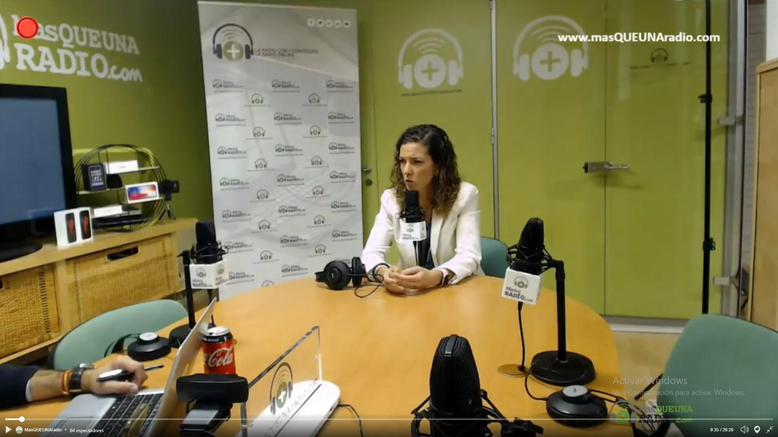 Entrevista a Elena González-Blanco en MasQUEUNAradio